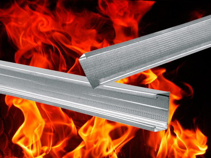 Classificazione EI 120 per i nostri profili metallici per cartongesso